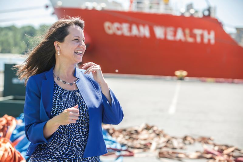 TRIBUNE PHOTO: JONATHAN HOUSE - Julianna Marler took the helm of the Port of Vancouver earlier in 2017. She started as a receptionist and rose through purchasing roles at the City of Vancouver and in finance with the Port. She is the Port of Vancouver's first female CEO.