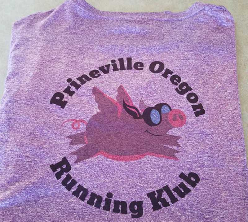 PHOTO COURTESY OF PRINEVILLE OREGON RUNNING KLUB - The Prineville Oregon Running Klub now has T-shirts and hats available for interested runners and walker.