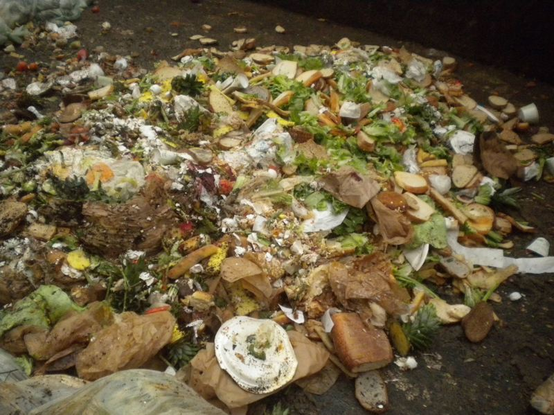 COURTESY OF METRO - Food scraps pile up at a Metro transfer center. The regional agency received seven proposals to convert such waste into energy, or perhaps compost.