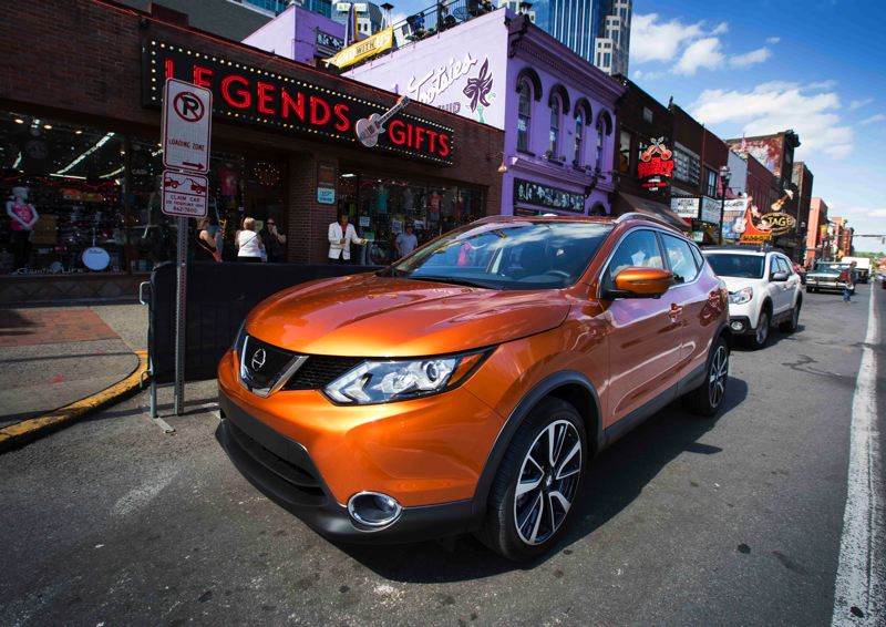 COURTESY NISSAN-USA - The 2017 Nissan Rogue Sport is a good size for urban driving, and also has suspension that handles broken pavement surprisingly well.