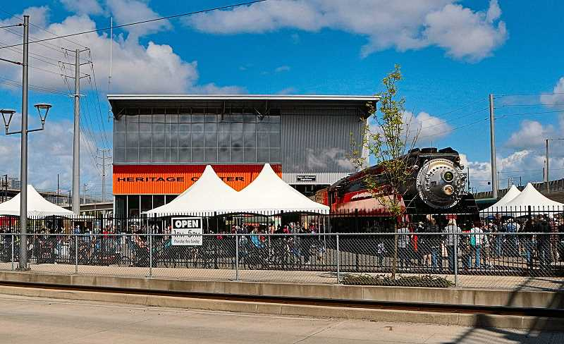 DAVID F. ASHTON - As Portland Train Day 2017 opens at the Oregon Rail Heritage Center, crowds of visitors come check out the city's historic locomotives and other exhibits.