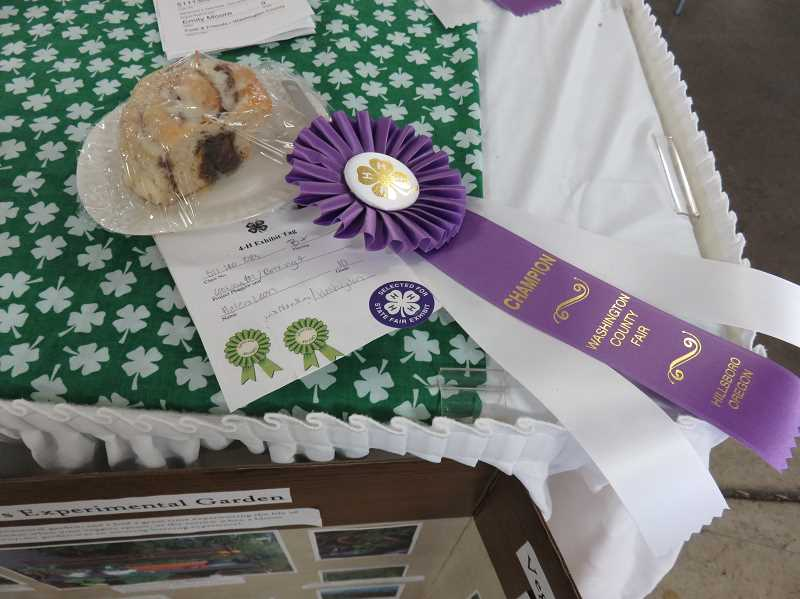 COURTESY OF SHERWOOD 4-H - Helen Leon's cinnamon roll won a champion ribbon at the Washington County Fair.