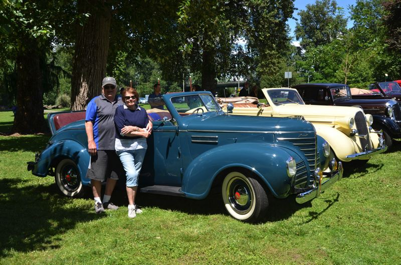SUBMITTED PHOTO - Randy and Pam Ealy are the proud owners of a 1939 Plymouth convertible that is registered for this year's show on Aug. 12.