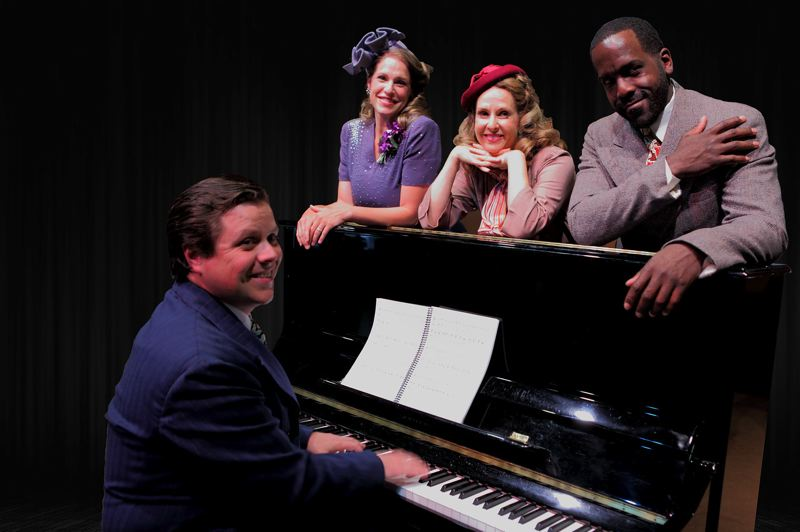PHOTO BY TRAVIS NODURFT - Pictured left to right are Mont Chris Hubbard, at the piano, Merideth Kaye Clark, Susannah Mars and Don Kenneth Mason in CRT's 'Irving Berlin's The Melody Lingers On.'
