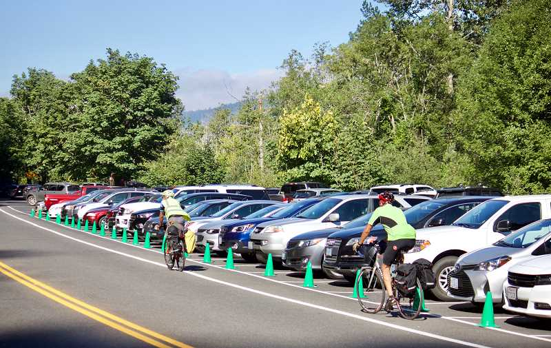 OUTLOOK PHOTO: CHRISTOPHER KEIZUR - Multnomah Falls has an upper and lower parking lot, combining for 270 spaces, though its not enough to accommodate demand.