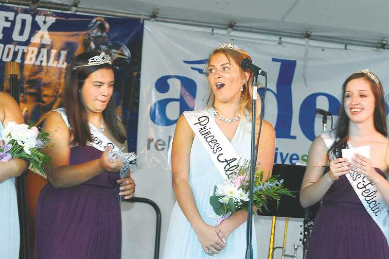 GARY ALLEN - Alexis Hayes was crowned queen of the Old Fashioned Festival court Thursday evening in Memorial Park to kick off the annual rite.