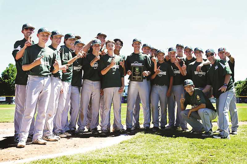 COURTESY PHOTO: JO WHEAT - The North Willamette Valley baseball team captured the American Legion state tournament title at North Marion High School Sunday, July 30.
