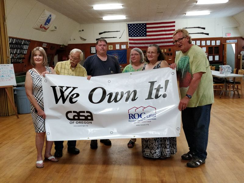 SUBMITTED PHOTO - On July 22, the Gladstone Mobile Home Park residents elected seven to their board of directors, including Linda Re, Bob Sergant, James Cushman, Maureen Perry, Linda Stricklin and Kim Baller. Not pictured: Marian Chariat.