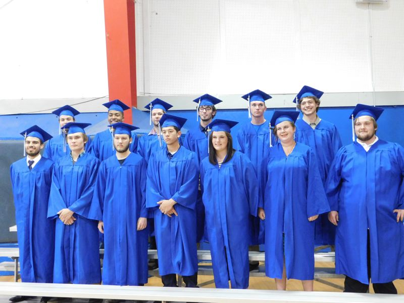 ESTACADA NEWS PHOTO: EMILY LINDSTRAND - On Thursday, July 27, 15 students graduated from the Timberlake Job Corps. The program — free to students and their families — allows participants to earn their high school diplomas and become certified in a trade of their choice.