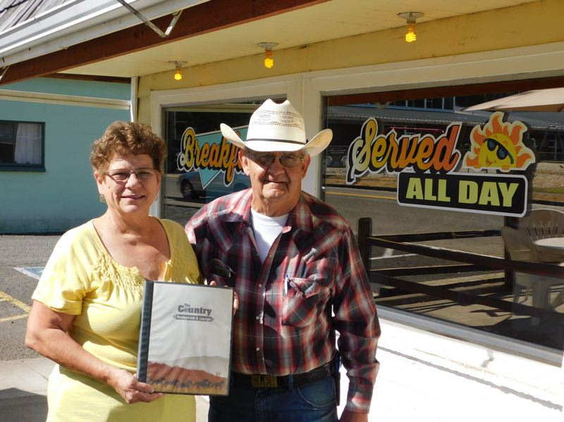 ESTACADA NEWS PHOTO: EMILY LINDSTRAND - Linda and Glen Parsons are the forces behind The Country Restaurant and Lounge. After 38 years in business, the pair plans to sell the establishment and retire.