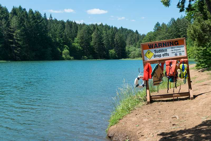 NEWS-TIMES FILE PHOTO - Hagg Lake offers cool water but watch out for dropoffs and use the free life jackets available.