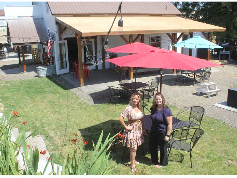 SUSAN MATHENY/MADRAS PIONEER - Jennifer Schaffner, left, and Rebecca Keegan have had extensive remodeling done on the downtown business. Both ladies also offer craft classes for adults and kids.
