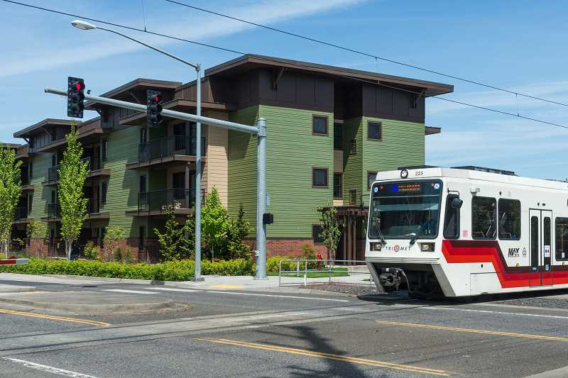 HILLSBORO TRIBUNE PHOTO: CHRIS OERTELL - A light rail train nears the Orenco Station platform earlier this year. TriMet announced trains and busses would be free on Wednesday, Aug. 2, thanks to a technical glitch.