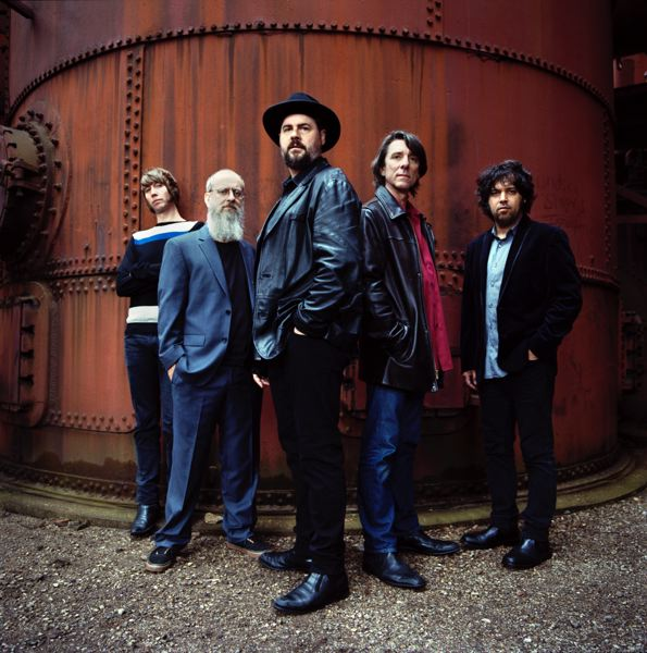COURTESY: DANNY CLINCH - The Drive-By Truckers and their currently Portland-based Patterson Hood (third from left), the guitarist and vocalist and songwriter, play Pickathon this weekend. They are tapped into the political scene, as Hood says, we get called political a lot. I consider it personal.