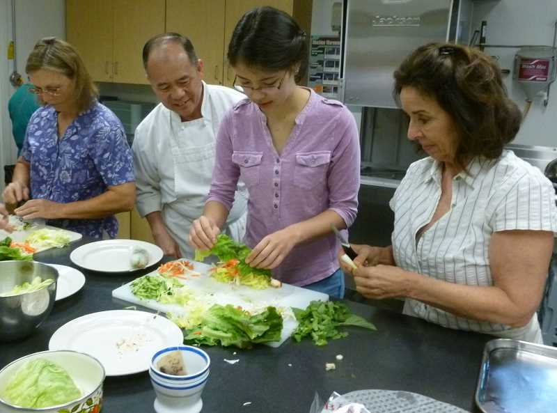 SUBMITTED PHOTO - West Linn Chef Surja Tjahaja will teach a class on making Vietnamese salad rolls, barbecued chicken and shrimp with special sauces Aug. 20. Sign up now.