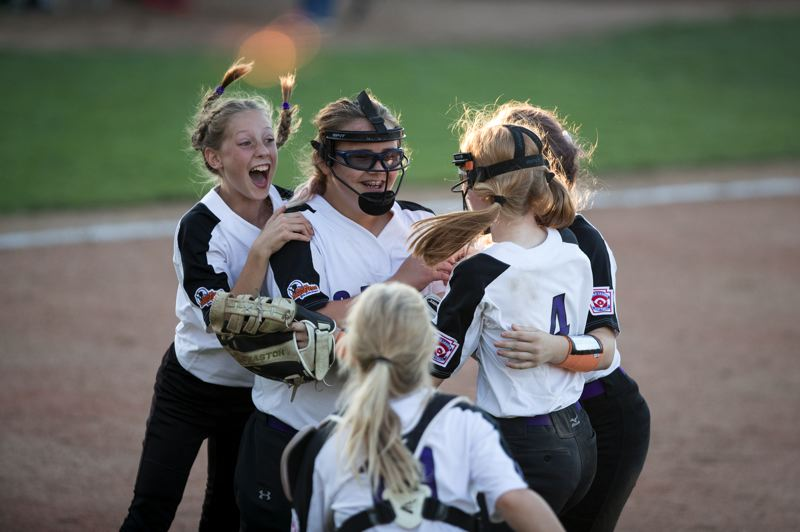 TIMES PHOTO: JAIME VALDEZ - The South Beaverton All-Stars beat Tualatin Tigard City in the District Four Championship game on Friday to advance to the Little League Softball World Series.