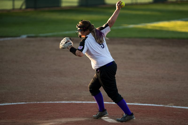 TIMES PHOTO: JAIME VALDEZ - South Beaverton pitcher Amanda Peterson threw a complete game gem against Tigard/Tualatin City on Friday to send the All-Stars to Little League World Series.
