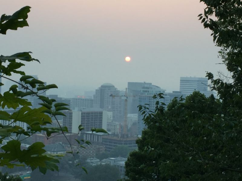 KOIN 6 NEWS- A hazy Portland sunrise