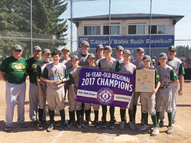 SUBMITTED PHOTO - The West Linn 14U All Stars outscored their opponents by a combined score of 88-25 over six games at regionals.