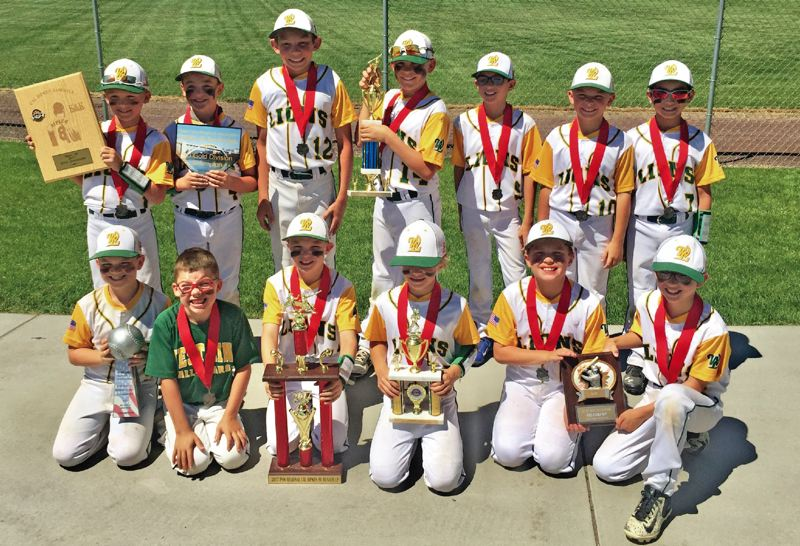 SUBMITTED PHOTO - The West Linn 9U All Stars finished second in their regional Friday, July 28.