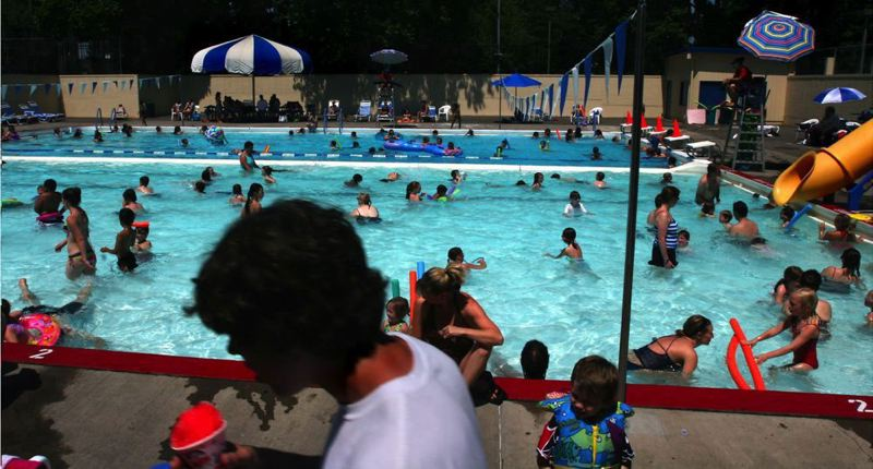 PAMPLIN MEDIA GROUP: FILE PHOTO - A state air quality alert because of high temperatures and wildfire smoke prompted Portland Parks & Recreation officials to close the city's outdoor pools through Friday, Aug. 4. Indoor pools will remain open.
