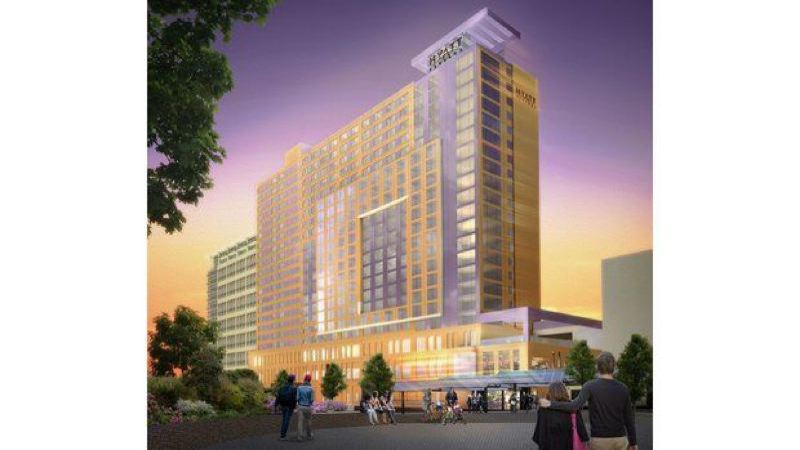 METRO/MORTENSON - Construction is finally underway on the long-delayed headquarters Hotel at the Oregon Convention Center.