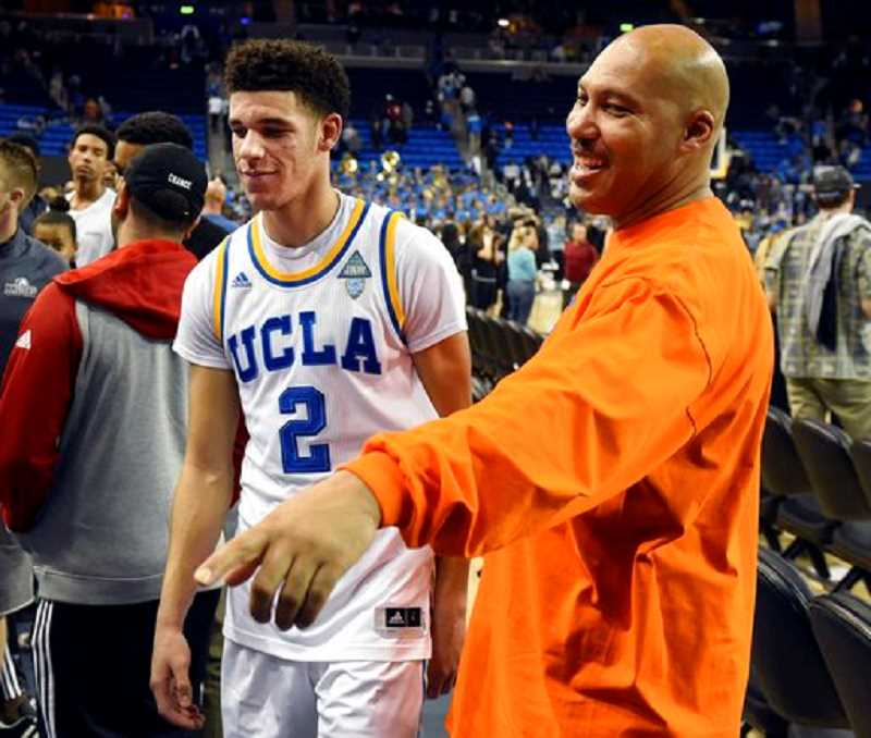 KOIN NEWS FILE PHOTO - LaVar Ball (right) has gone from mildly entertaining to tired and offensive in the wake of his son's success.
