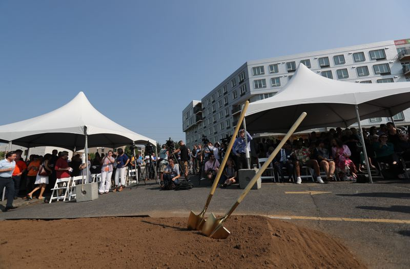 PAMPLIN MEDIA GROUP: JAIME VALDEZ -  The long-awaited groundbreaking of the Hyatt, a hotel that's been planned to go near the convention center since 1990, finally occured last Friday.