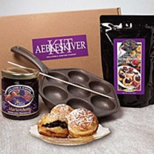 YOUR NW - Scandinavian pancakes (Aebleskivers) with Marionberry jam.