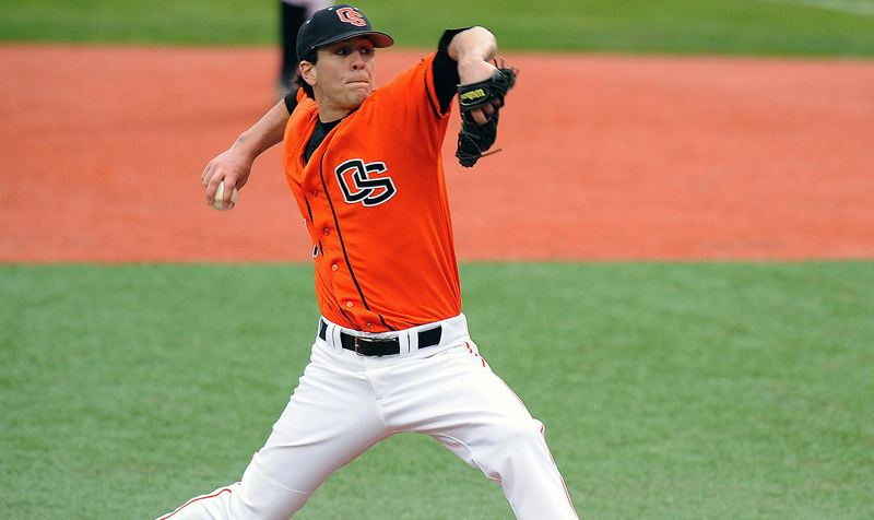 COURTESY OSU - Lake Oswego High School graduate Mike Stutes and his 2006-07 Oregon State baseball teams will be inducted into the Oregon Sports Hall of Fame in September.
