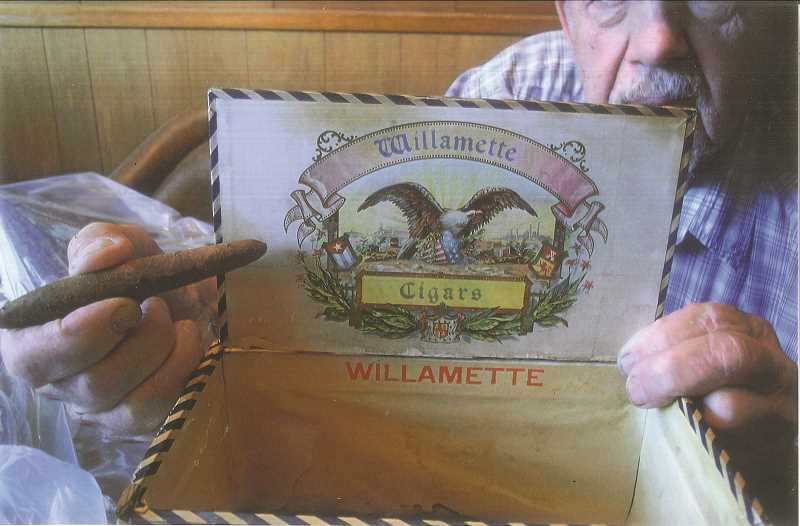 RUSS BAGLIEN - The Becker tobacco farm produced Oregon and Willamette Cigars, as shown by Ed Kahut.