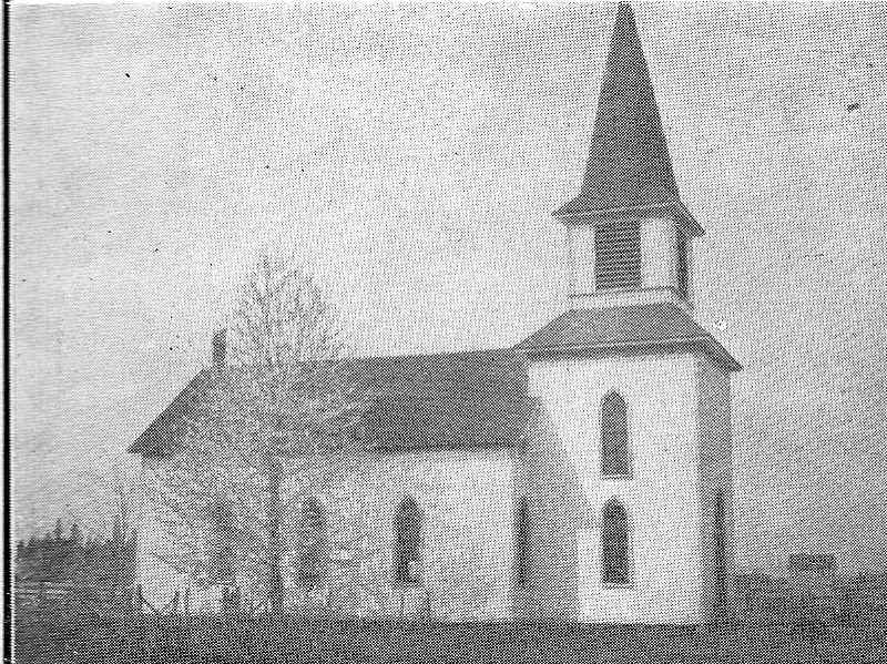 COURTESY PHOTO - The original St. Peters Lutheran Church was erected in the winter of 1882 and 1883. The current church was constructed in 1989.