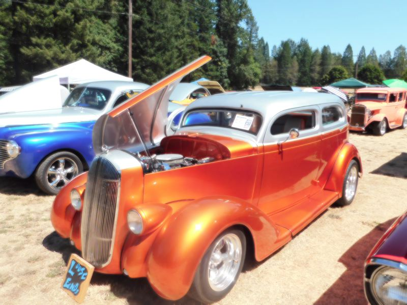 ESTACADA NEWS PHOTO: EMILY LINDSTRAND - This 1935 full custom Dodge was one of many cars on display at the Old Time Cruise In to Estacada last weekend.