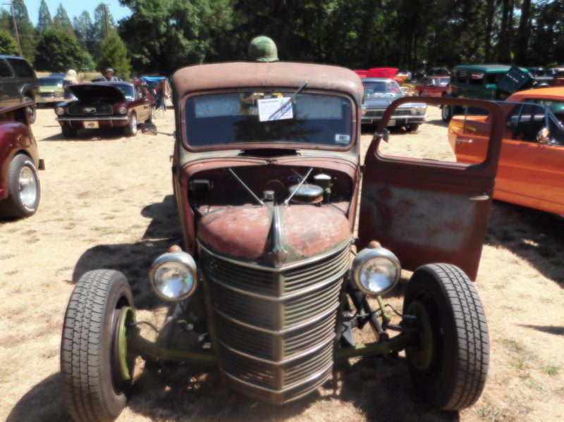 ESTACADA NEWS PHOTO: EMILY LINDSTRAND - The entry form for this 1937 Ford Pickup listed the vehicles color as 'rust.'