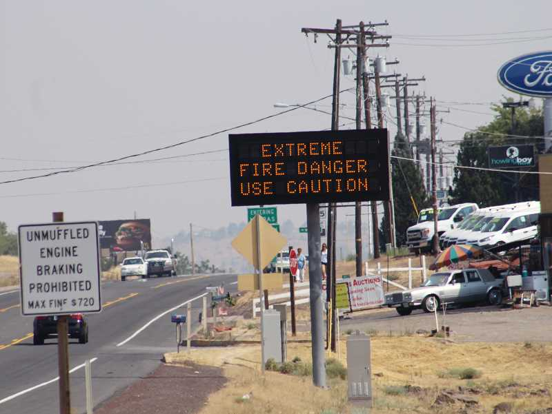 HOLLY M. GILL - Just south of Madras on U.S. Highway 97, a message board has already been installed, and will be used to inform motorists of emergencies. Five other signs will also be put up in and around Madras and Warm Springs before the Aug. 21 total solar eclipse.