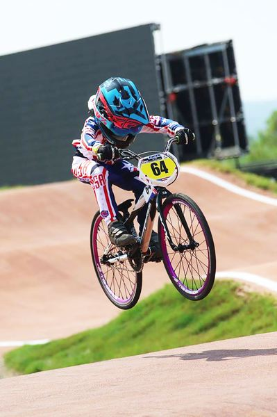 PHOTO COURTESY: WENDI SMITH WORLITZ - Geoffrey Worlitz, 5, of St. Helens, rode to 14 points in the 2017 Union Cycliste Internacionale World BMX Championships 5-6 Division but missed the quarterfinals on July 26 at the Novant Health BMX Supercross Track in Rock Hill, S.C.