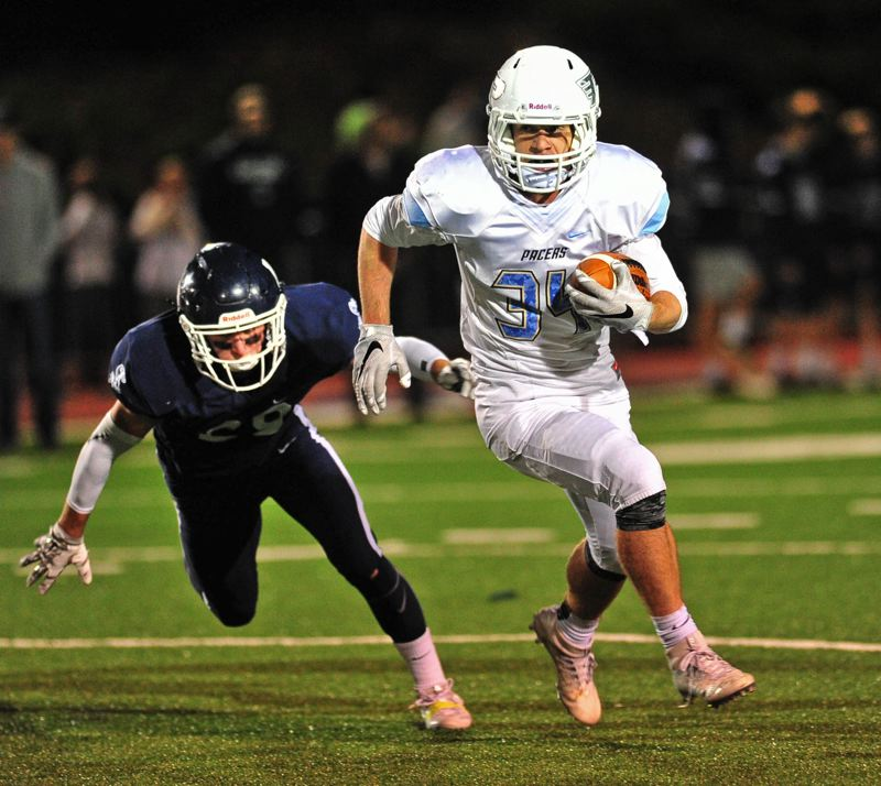 REVIEW FILE PHOTO - Lakeridge's Nick Hoddevik (shown last year in his team's 2016 Three Rivers League loss to Lake Oswego) and the Pacers are hoping for better league results in 2017.