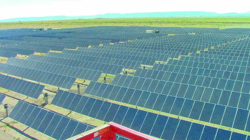 PACIFIC POWER - This central Oregon solar farm was installed by Pacific Power; farms west of the Cascades are less common due to cloud cover