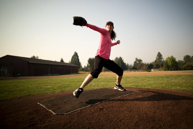 TIMES PHOTO: JAIME VALDEZ - As one of the first women to play men's professional baseball, Ila Borders compensated for below-average velocity with two effective breaking pitches. She finished her baseball career with two wins and four losses across parts of four seasons.