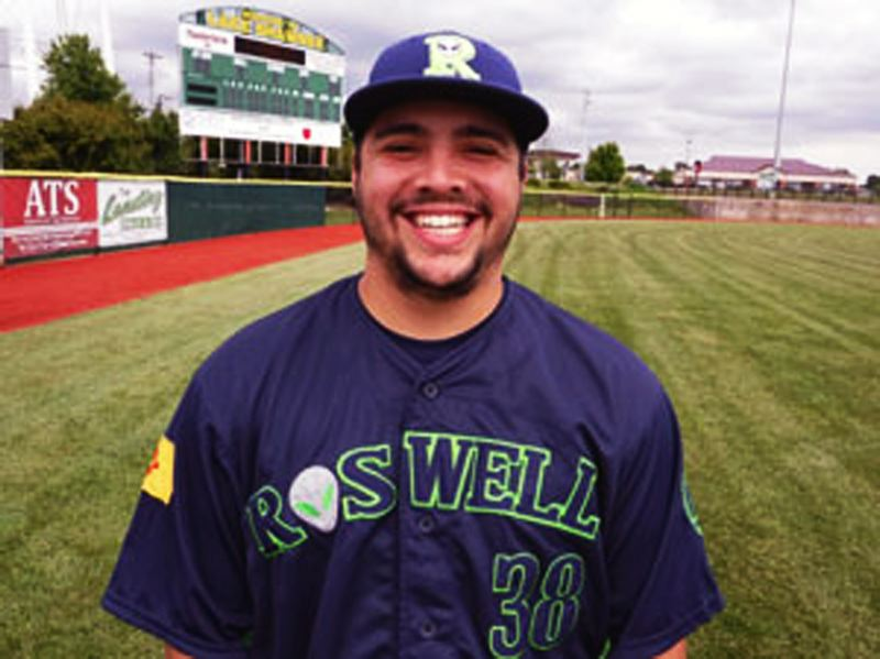 SUBMITTED PHOTO - One of the teams that T.J. Pruneda played for, before he joined the Pericos de Puebla, was the Roswell Invaders of the Pecos League.