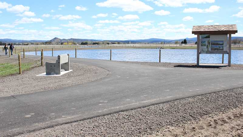 CENTRAL OREGONIAN FILE PHOTO - The Crooked River Wetlands opened on Earth Day, April 22, and boasts numerous information kiosks, several miles of trails as well as an answer to wastewater capacity issues.