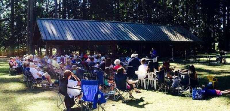 COURTESY PHOTO: SHELLY SHOOK - Last year's Worship in the Park was so well attended the participating churches are hosting it again.