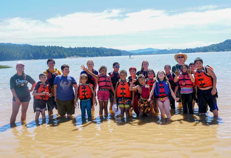 COURTESY PHOTO: CITY OF HILLSBORO - Camp Eagle staff took the youth to Hagg Lake on day two for kayaking and swimming adventures.