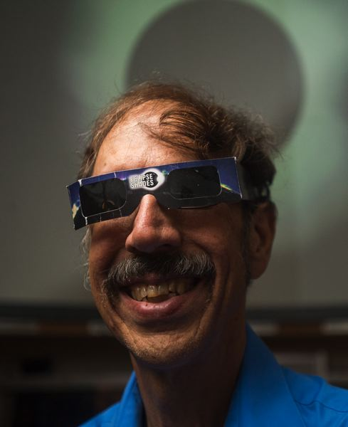 OUTLOOK PHOTO: JOSH KULLA - Pat Hanrahan, director of Mt. Hood Community College planetarium and an astronomy instructor has backup plans so he is certain he will see the Monday, Aug. 21, total eclipse.