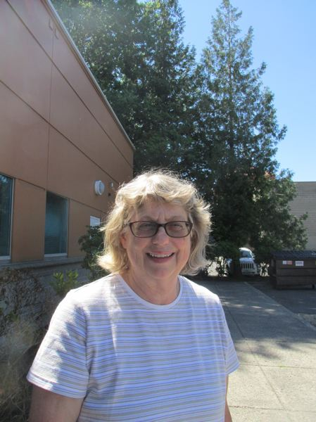 OUTLOOK PHOTO: TERESA CARSON - Gail Hare, a retired Gresham manager, like many others, will watch the eclipse from Gresham because she doesn't want to fight the predicted crowds and traffic.