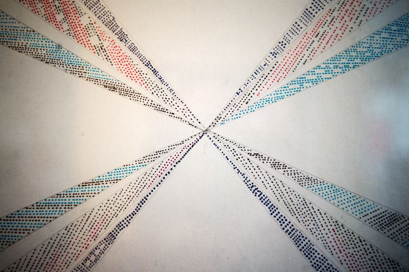 OUTLOOK PHOTO: JOSH KULLA - One of Henckel's drawings was made using individual dots arrayed in a symmetrical pattern.