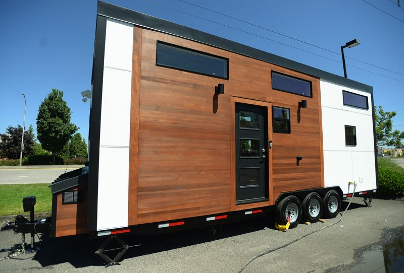 OUTLOOK PHOTO: JOSH KULLA - Co-founder Jeremy Killian says the company hopes later models will be as light as 8,000 pounds to 10,000 pounds, with the entire home supported by a single axle.