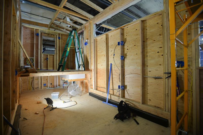 OUTLOOK PHOTO: JOSH KULLA - Another partially built Catalina is located in Tiny Innovations' workshop near the corner of Northeast Glisan Street and 219th Avenue in Gresham.