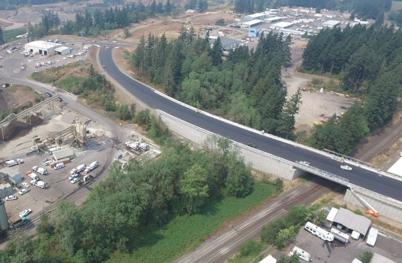 TIMES PHOTO: ALVARO FONTAN - Basalt Creek Parkway is ultimately envisioned as a five-lane thoroughfare. For now, though, the road will be striped with two lanes and detour traffic from Tonquin Road to Grahams Ferry Road east of Sherwood.