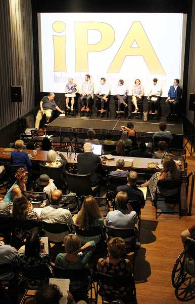 REVIEW PHOTO: ANTHONY MACUK - Thursday night's House District 38 candidate forum was held at the Lake Theater and Cafe in Lake Oswego and hosted by the local group Independants for Progressive Action.